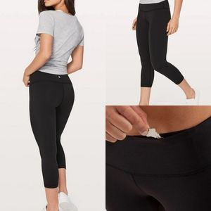 Lululemon wunder under cropped legging black